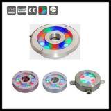 de boucle simple de la haute énergie 9X3w lumière sous-marine de fontaine Color/RGB DEL