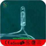 Decoração do Natal da luz da corda do diodo emissor de luz do cabo do PVC
