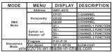 4 pacchetto professionale dell'interruttore dei canali DMX