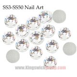 Venda Por Atacado Crystal Crystal Non Hot Fix Flat-Back Rhinestones for Nail Art Decorações
