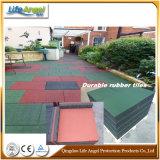 Pavimentazione di gomma esterna durevole quadrata con l'alta qualità