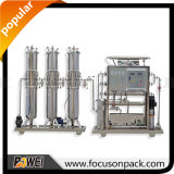 planta de agua purificada del acero inoxidable de 1t/2t uF