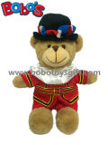 Brinquedo enchido do urso da peluche do Beefeater do luxuoso