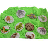 Jouets innovants pour enfants à sable sensuel avec des morceaux de dinosaures (MQ-DDS01)