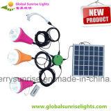 Telefono mobile domestico solare portatile del sistema di illuminazione che incarica 2 kit solari chiari del comitato solare 9W