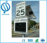 Kundenspezifisches Solarradar-Höchstgeschwindigkeit-Zeichen/Waterprood Höchstgeschwindigkeit-Zeichen können Daten speichern