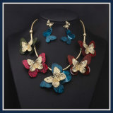 New Item Flower Resin Acrylic Fashion Earring Necklace Jewelry Set