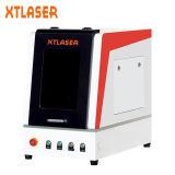 Máquina de acero de la marca del laser de la fibra del metal etc con el caso protector