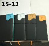 Cahier en cuir personnalisé de cuir d'agenda de carnet d'unité centrale