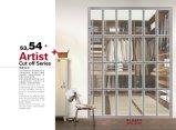 Раздвижная дверь шкафа серии штарки PVC конструкции Morden (yg-010)