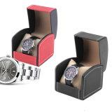 Rectángulo de almacenaje plástico de la bandeja de la visualización de la caja de embalaje del reloj del MDF del cuero de lujo para el reloj mecánico de la Vástago-Devanadera del reloj del deporte (Ys376)
