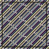 선 패턴 Customzied 실크 스카프