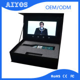casella di video scheda dello schermo dell'affissione a cristalli liquidi 1500mAh con la batteria incorporata