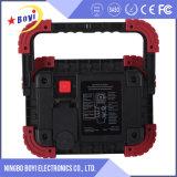 2 MAZORCA recargable LED Worklight de la batería de litio del PCS 18650