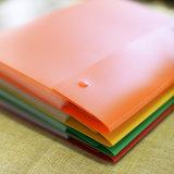 Carpeta de los bolsillos del plástico 8 con el sujetador rápido dos