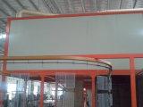 Línea electrostática de la pintura a pistola del transportador de arriba