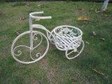 Soporte del plantador de la bicicleta con diseño de la flor