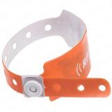 PVC esperto descartável do Wristband de RFID para o controle de acesso