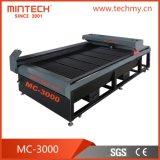 Maquinaria da estaca da gravura do laser do CNC do CO2 para placa acrílica/de madeira