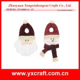 Decoración de Navidad (ZY14Y176-1-2-3) de la venta caliente de Navidad Pomo Percha Festivales productos de decoración