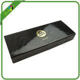 方法デザインカスタム光沢のある黒いペーパー包装ボックス