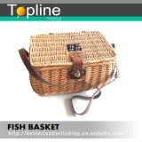Handgemachter aus Weiden geflochtener materieller Fischen-Korb