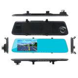 Reverso D511 câmera dupla video do espelho de Rearview do carro de 5 polegadas
