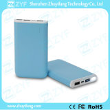 Banco 8000mAh portátil USB cargador rectangular de doble puerto de la energía con la linterna (ZYF8069)