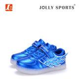 Zapatos ligeros de los deportes de la carga LED de la manera del calzado para los cabritos de las muchachas de los muchachos