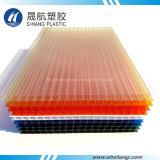Il tetto della serra della garanzia da 10 anni riveste gli strati di pannelli della plastica del policarbonato di Lexan