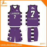 Healongの完全な昇華カスタムバスケットボールのスーツ
