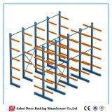 Sistemas Cantilever de aço revestidos do Shelving da disposição de projeto da cremalheira do armazenamento do pó que arquivam a cremalheira