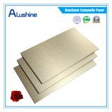 Классическая 4mm почищенная щеткой панель ACP меди ладони алюминиевая составная