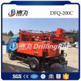 Camión portátil dfq-200c montado en la máquina de perforación de agua utilizados