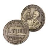 Pièce de monnaie de souvenir en métal avec l'émail mol transparent
