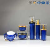 Kruik Van uitstekende kwaliteit van de Room van de luxe de Zilveren Gouden Vierkante Plastic Acryl Kosmetische voor Schoonheidsmiddelen