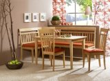 カシ木表および椅子の食堂テーブルセット