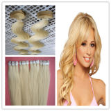 Remy Human Tape Hair в 4cmx1cm Size европейское Hair Extension