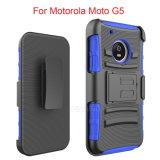 Motorola Moto G5のためのホルスターベルトクリップ電話箱