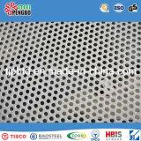 Hoja de acero inoxidable perforada del orificio redondo plateado de metal 316L/304