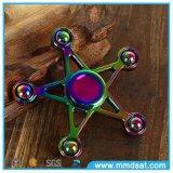 Mini hilandero Cinco-Acentuado colorido de la persona agitada de la estrella de cinco granos