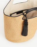 Fashionale novo Straw Tassel Bucket Bag para Lady