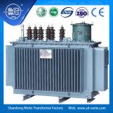 Capacité 8000---31500kVA, transformateur d'alimentation immergé dans l'huile triphasé de régulation de tension du sur-chargement 33kv avec le groupe YNd11 de vecteur