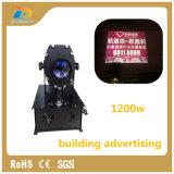Indicatori luminosi di pubblicità interurbani esterni della costruzione del proiettore 1200W del Gobo