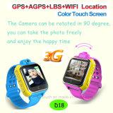 접촉 스크린 (D18)를 가진 GPS 지능적인 시계가 3G에 의하여 농담을 한다
