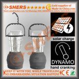 Dinamo di funzionamento manuale di campeggio autoalimentata solare solare portatile della lanterna dei 60 LED