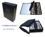 Boîte à vin de papier spécial pour 2 bouteilles, appropriée à l'emballage de miel