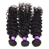 ブラジルのバージンの毛の深い巻き毛のバージンのブラジルのカーリーヘアーの加工されていない人間の毛髪の織り方のブラジルの深い波
