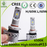 Faro dell'automobile LED di H11 60W 6000lm
