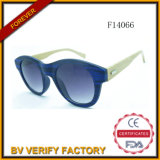 F14066 New Design Cat Eye Round Frame mit Bamboo Arms Sun Glass